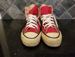 Vintage - Converse All Star Chuck Taylor - Red - 6 Men 8 Women - Usa Made