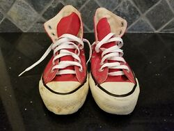 Vintage - Converse All Star Chuck Taylor - Red - 5 Men 7 Women - Usa Made