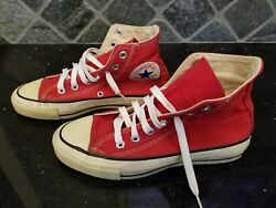 Vintage Converse All Star Chuck Taylor - Red - 5 Men 7 Women - Usa Made