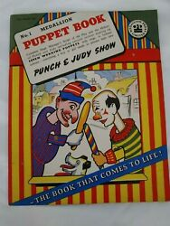 Vintage Punch And Judy Show No 1 Puppet Book Medallion Press Limited - England