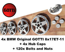 4x Bmw Original Gotti 8x17et-11 Centers/faces 5x120 With Hub Caps And Bolts+nuts