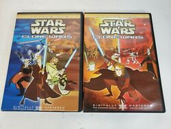 Star Wars Clone Wars Volume 1 And Volume 2 Dvd Rare Animated Classic Oop Complete
