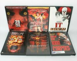Horror Movie 6 Dvd Lot Thirteen Ghosts, Resident Evil, It, House Of 1000 Corpses