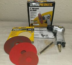 Central Pneumatic High Speed Air Sander With Multiple Resin Fiber Backing Disc