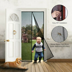 Hands-free Magnetic Screen Door Mesh Net Insect Mosquito Fly Bug Curtain Closer