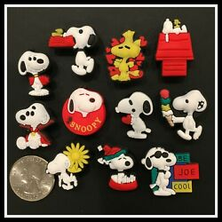 11 Shoe Charms for Crocs Peanuts SNOOPY WOODSTOCK Doghouse Joe Cool Vampire Bowl