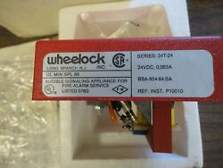 Brand New - Wheelock 34t-24 Fire Alarm Audible Device Red Metal - N O S