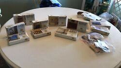 X-acto Vtg The House Of Miniatures 10 Kits 8 Sealed Dollhouse Wood Furniture Fs