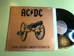 For Those About To Rock We Salute You Vinyl Lp 1981 Xsd-11111 Ac/dc Embossed
