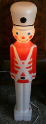 Vintage 1987 Christmas Union Light Up Blow Mold 30 Toy Soldier