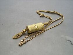 Wittnauer Geneve Swiss Working Peekaboo Watch Pendant Gold Filled Chain Necklace