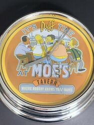 The Simpsons Wall Clock - It's Duff Time At Moe's Tavern - Beer Themed