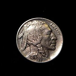 1916 P Buffalo Indian Head Nickel 5c Unc Uncirculated Bu Ms Five Cent Luster