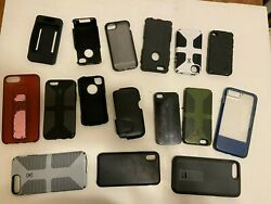 Large Lot 16 Iphone Cases Used Otterbox Apple Trident Speck Great Cond