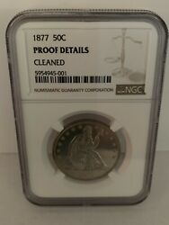 1877 P 50c Seated Liberty Proof Half Dollar - Coin Graded Ngc Proof Details