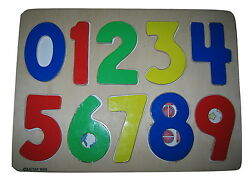 Wood Numbers Jigsaw By Battat 1999 Wooden Puzzle Counting Numbers 0 Through 9
