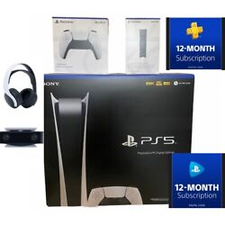 Sony Playstation 5 Ps5 Digitalandnbspedition Xtra 🎮 Ps+ And Now 1 Yrs + Charge +headset