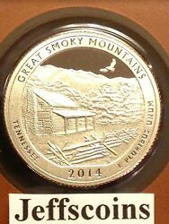 2014 S Clad Proof Great Smoky Mountains National Park Quarter 1 Coin Smokey Mtn.