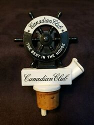 Vintage Canadian Club Ship's Wheel Bottle Pourer Stopper The Best In The House