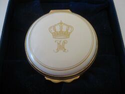 Very Rare Halcyon Days Enamel Box Made For King Hussein And Queen Noor Of Jordan
