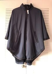 Loro Piana Vail Reversible Wind Storm Cape Navy Blue One Size Nwt 3300