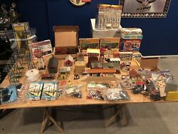 Vintage Electric Toy Train Set Lot Of Engines Train Cars Scenery And Much More