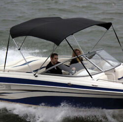 """Shademate 80321 Black Poly Bimini Top And Boot Only,4bow,8'lx54""""hx61-66""""w-ship24hr"""
