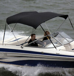 """Shademate 80312 Black Bimini Top Poly Fabric And Boot Only,4bow,8'l,54h,54""""-60""""w"""