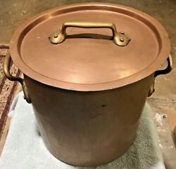 Antique Mauviel 16.5 Sold By Dehillerin Paris Copper Stockpot 17lbs As Found