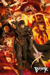 Details About Berserk Manga Anime Tv Show Poster Character Collage