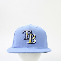Tampa Bay Rays New Era Fitted Hat Unisex Light Blue New Without Tags