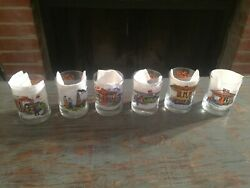 Vtg. Set Of 6 Gulf Collectorand039s Series Glasses Gulf Oil And Gas Company Historyandnbsp