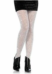 Leg Avenue Womens Lurex Shimmer Tights Silver Size One Size E2f0