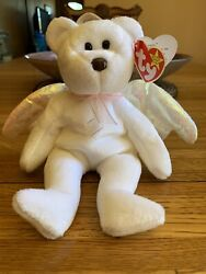 Rare Ty Beanie Baby Halo-mint With Brown Nose And Tag Errors