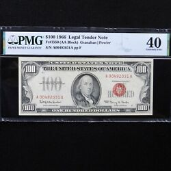 100 1966 Legal Tender Note Fr 1550 Pmg 40 Extremely Finegranahan-fowler
