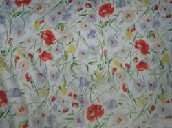 Georgica Gardens Floral Dbl/full Fitted Sheet Wildflowers Poppies