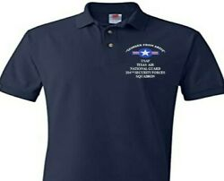 204th Security Forces Texas Air Guard Usaf Embroidered Polo Shirt/sweat/jacket.