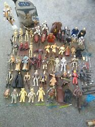 Star Wars Action Figures Job Lot Bundle 50+ 3.75 Inches With Comm Talk