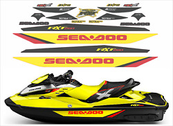 Seadoo Rxt X 260 2015 Graphics / Decal Replacement Kit Yellow