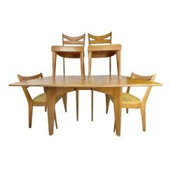 Mid-century Modern Heywood-wakefield Dining Table W/ Chairs - 5 Pieces