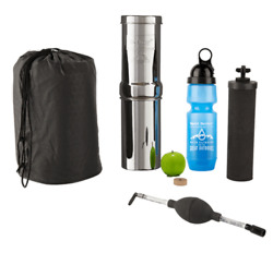 Go Berkey Kit Includes Stainless Steel Portable Water Filter System