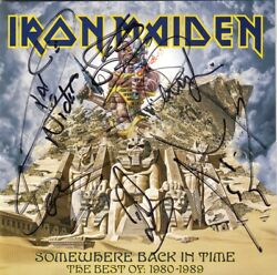 Iron Maiden Somewhere Back In Time Fully Signed Bruce Dickinson Murray Autograph