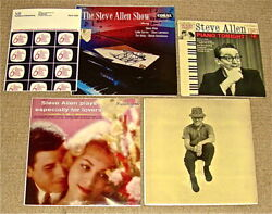 Signed Steve Allen Show+piano Tonight/especially For Lovers/williams Sings Allen