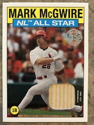 2021 Topps Series 2 Mark Mcgwire 1986 Topps All Star Relic St. Louis Cardinals
