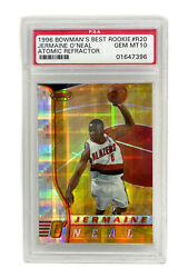 1996 Jermaine Oand039neal Bowmanand039s Best Rookie Atomic Refractor Psa Gem Mint 10 R20