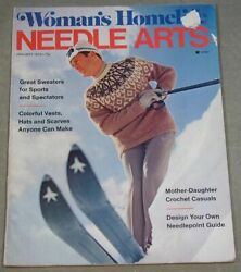 Womans Homelife Needle Arts January 1973 Sweaters, Vests, Hats And Scarves
