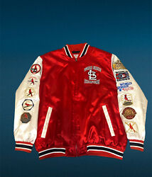 11 Time World Series Champions Jacket St. Louis Cardinals W/ Patches Xxl Ex Cond