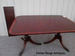 57057-t9 Antique Banded Mahogany Dining Table 40 X 60 Top