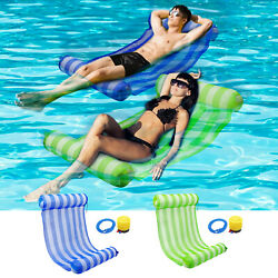 Inflatable Floating Lounge Bed Float Beach Swimming Pool Water Hammock Free Pump