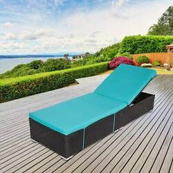Outdoor Cushioned Pe Rattan Wicker Chaise Lounge Sofa Couch Patio Furniture Pool